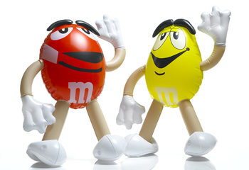 mini inflatables M&M